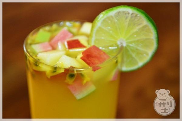 【食譜】茶花水果綠茶