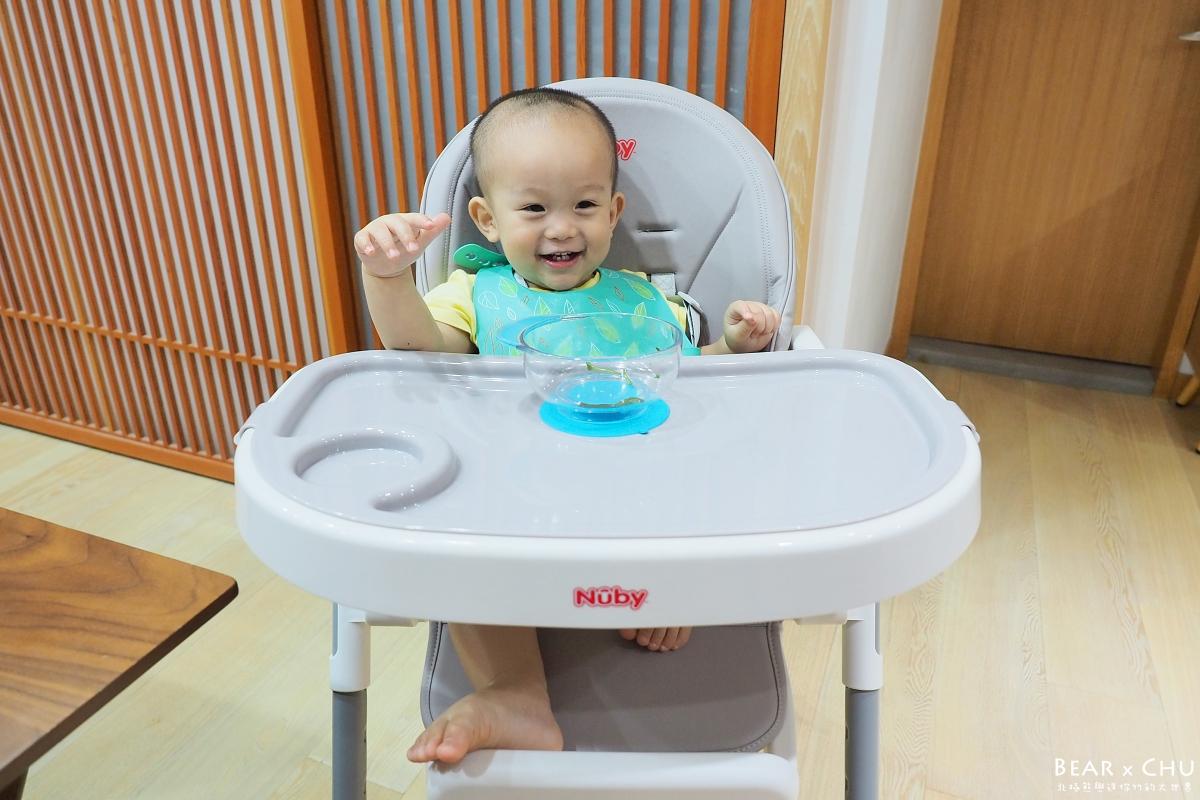【寶寶餐椅推薦】Nuby多功能成長型高腳餐椅・1Y3M雷寶自己開心吃飯飯